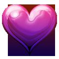 Fialové srdce